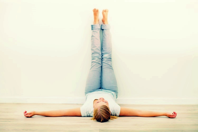 Use this simple pose to help your run-weary legs recover while you take a moment to relax.